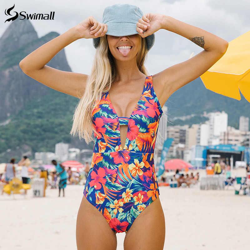 2020 プリント花柄ワンピース水着女性水着プッシュアップ Momokini 高カットボディスーツサマービーチ水着ひも水着スーツ