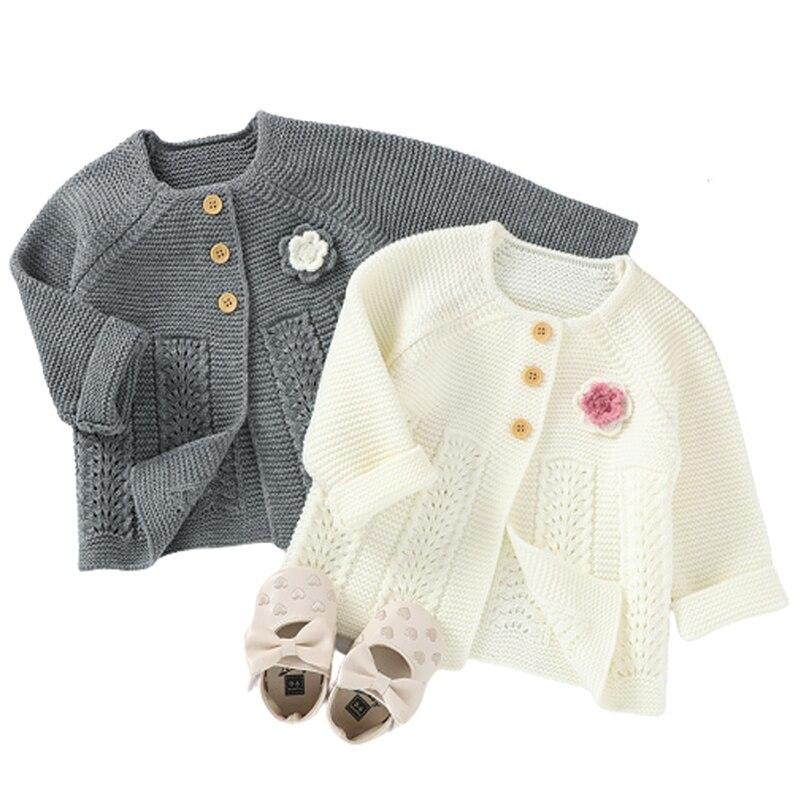 outono bebe camisolas cardigans floral recem nascido meninas de malha casacos casacos inverno manga longa crianca