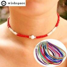 Wishspace богемная цепочка чокер из витражного стекла модное