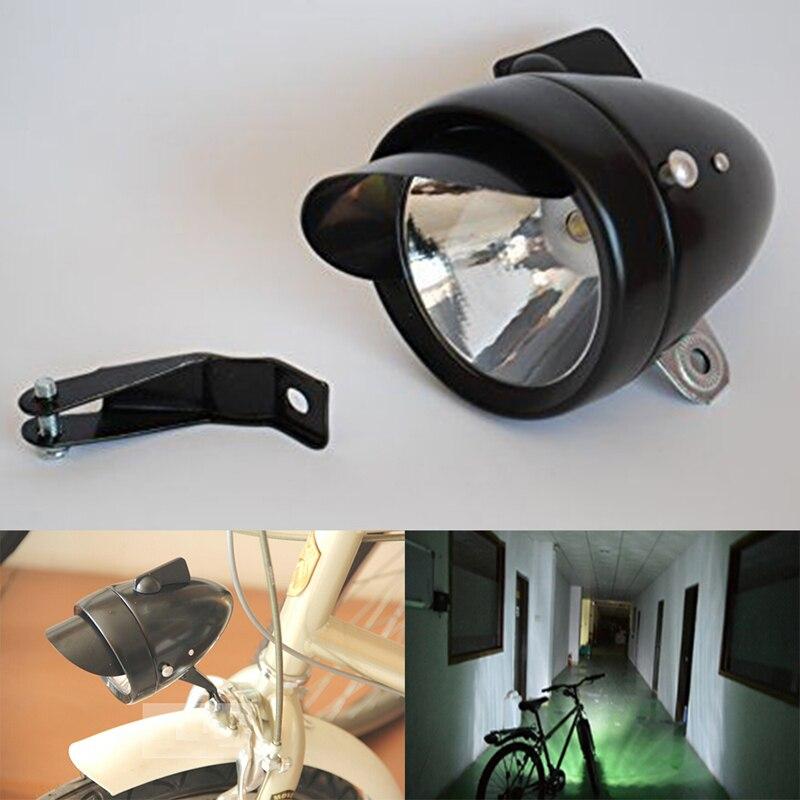 Scheinwerfer Klassisch Led-High Power Chrom Fahrrad Lampe Batterie mit Halterung