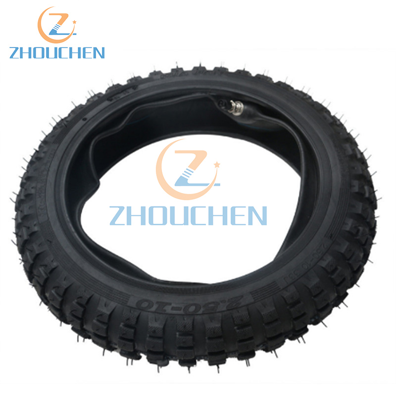 Genuine 2.5-10 2.50-10 4 PLY Motocross MX pit Enduro Dirtbike Dirt Bike Tyre <font><b>Tire</b></font> & Tube image