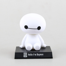Shaking Head Baymax Big Hero 6 An on-board Model Toy Car Decoration Collectible Action Figure