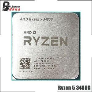 Image 1 - AMD Ryzen 5 3400G R5 3400G 3.7 GHz رباعية النواة ثمانية موضوع 65 واط معالج وحدة المعالجة المركزية YD3400C5M4MFH المقبس AM4