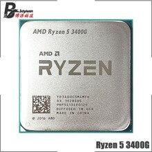 AMD Ryzen 5 3400G R5 3400G 3.7 GHz Quad Core שמונה חוט 65W מעבד מעבד YD3400C5M4MFH שקע AM4