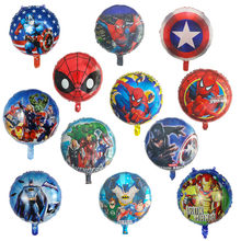50 stücke 18 zoll Spinne hero mann Batman Folie Helium Ballons Avengers Hero hero Geburtstag Party Dekoration bälle Cartoon kinder spielzeug(China)