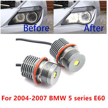 6000 К 80 Вт белый Светодиодный Маркер Дневной светильник IP65 16 светодиодный для 04-07 BMW 5 серии E60 525i 525xi 530i 530xi 545i 550i светодиодный глаза ангела свет...
