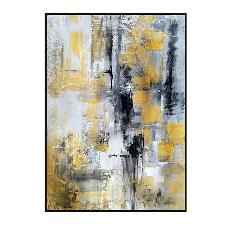 Design simples de alta qualidade pintados à mão moderna pintura a óleo cinza sobre tela arte moderna pintura a óleo para todos os tipos de decoração da parede