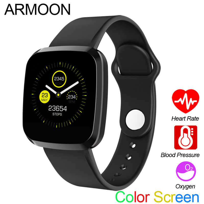 ARMOON <font><b>P3</b></font> <font><b>Smart</b></font> <font><b>Watch</b></font> Waterproof Color Sport Smartwatch Android IOS Bracelet Heart Rate Monitor Blood Pressure For Women Men image