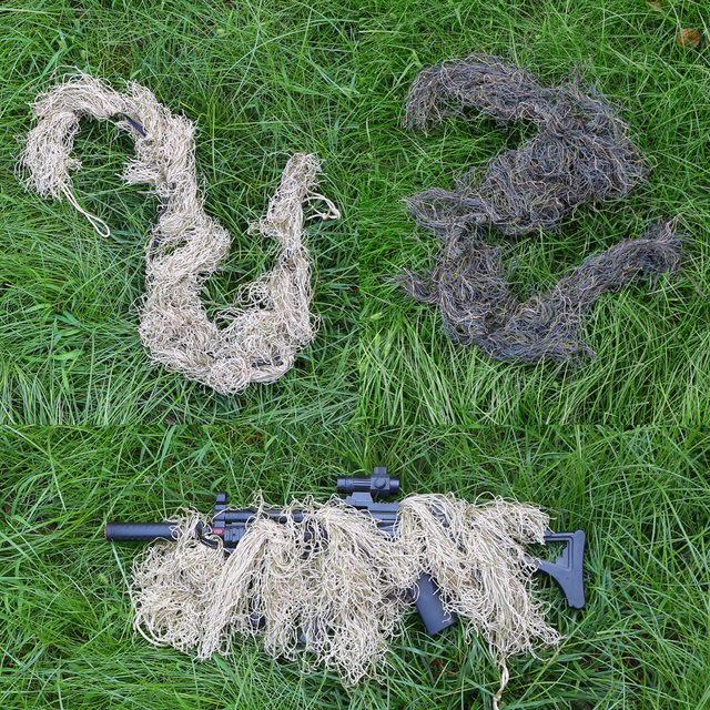 Hunting Ghillie Suit Gun Rope Cover Paintball Airsoft Rifle Wrap Cover Camouflage Hunting Accessories Rifle Blind Camouflage 3