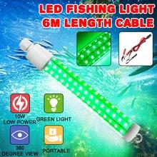 10W 12V lampa wędkarska podwodne lampy led do stawów przyciągające ryby LED nocne lampy wabiące światło do łodzi doki narzędzie połowowe zielone