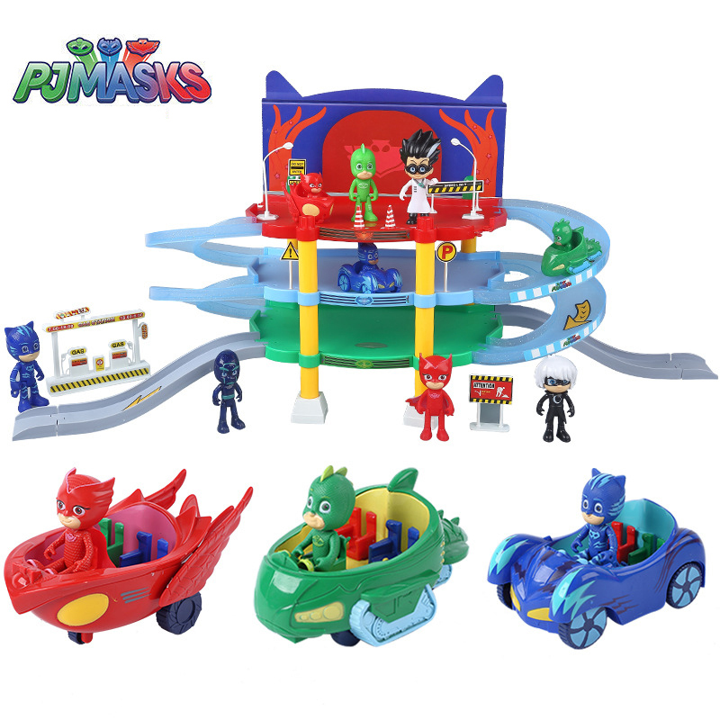 Pajamas Masked Juguete PJ Masks Heroes Small Kids Cat Owl PVC Action Figure Child Boys Girls Parking Set Toys For Children S01