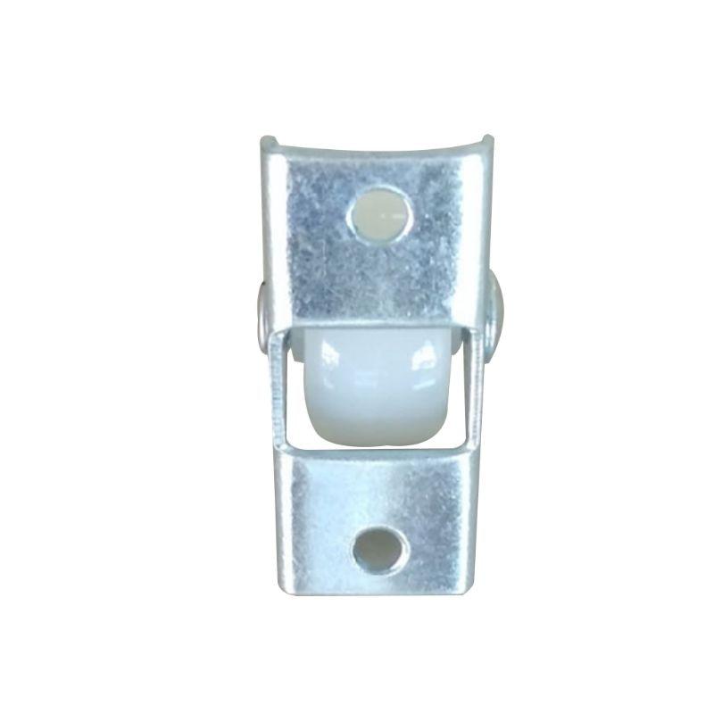 Resistentes fixos em trilho branco, pequeno acessórios de ferragem direcional de plástico para móveis da roda única viagem com 10 peças-1