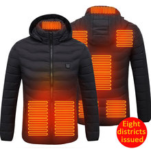 8 áreas aquecidas jaquetas usb inverno feminino ao ar livre jaquetas de aquecimento elétrico quente sprots vestuário casaco térmico colete heatable