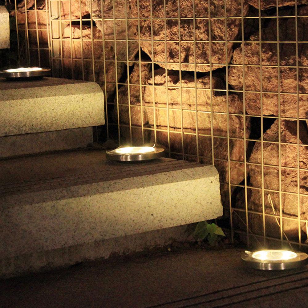 12 Светодиодный светильник с прочным диском для желобов, светильник s для ландшафтного освещения, светильник для безопасности, светильник для дома - Испускаемый цвет: Тёплый белый