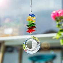 Crystal Prisms Rearview-Mirror Moon-Prism-Decor Rainbow Suncatcher Pendant Window-Ornament