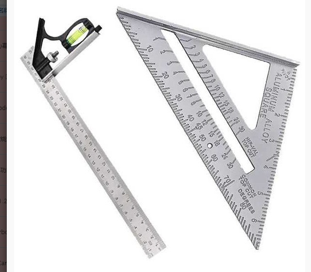 Combination Feature Square Level Activity Square Right Angle Esquadro Triangle Ruler Woodworking Decoration Large Triangle Ruler