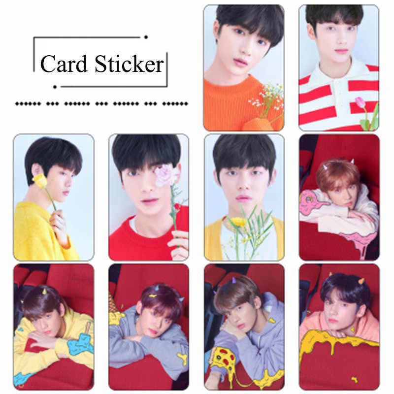 10 قطعة/المجموعة TXT PVC حافلة ملصقا بطاقة غدا X معا حلم الفصل بطاقة ملصقا YEONJUN SOOBIN BEOMGYU LJJ229