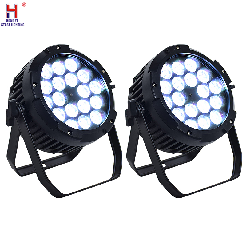 Waterproof Led Light 18x12W Led Par Light RGBW Led Lights DMX512 Control Professional Stage DJ Equipment Disco Lights (2pcs/lot)