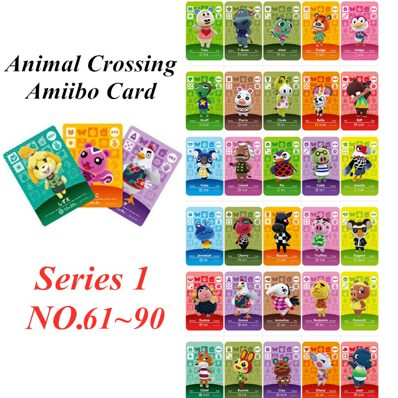 Animal Crossing Card Amiibo NFC Card For Nintendo Switch NS Games Series 1 (60 To 90)