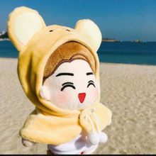 [MYKPOP]KPOP Doll's Clothes & Accessories: Bear Hooded Cloak for 20cm Dolls (without doll) EXO/Bangtan Fans SA19112106(China)