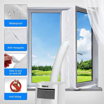 3m 4m okno AirLock Seal Plate pokrywa klimatyzatora miękka przegroda uszczelka okna dla wszystkich mobilnych klimatyzatorów tanie i dobre opinie CN (pochodzenie) Nowoczesne Sliding door seal