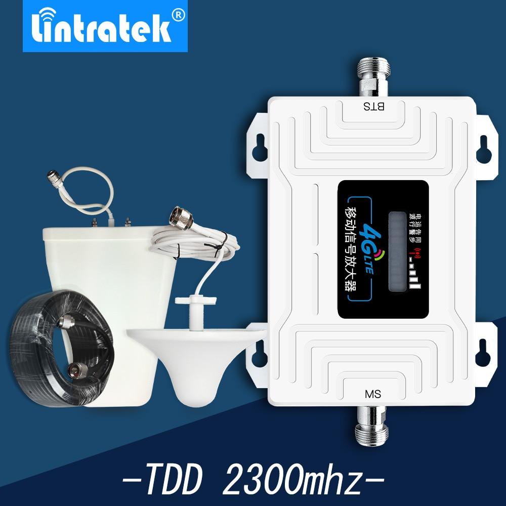 Lintratek 2300mhz-2400mhz Мобильный усилитель сигнала полоса 40 LCD повторитель сигнала для сотового телефона AGC/ALC TDD 4G LTE booster set-