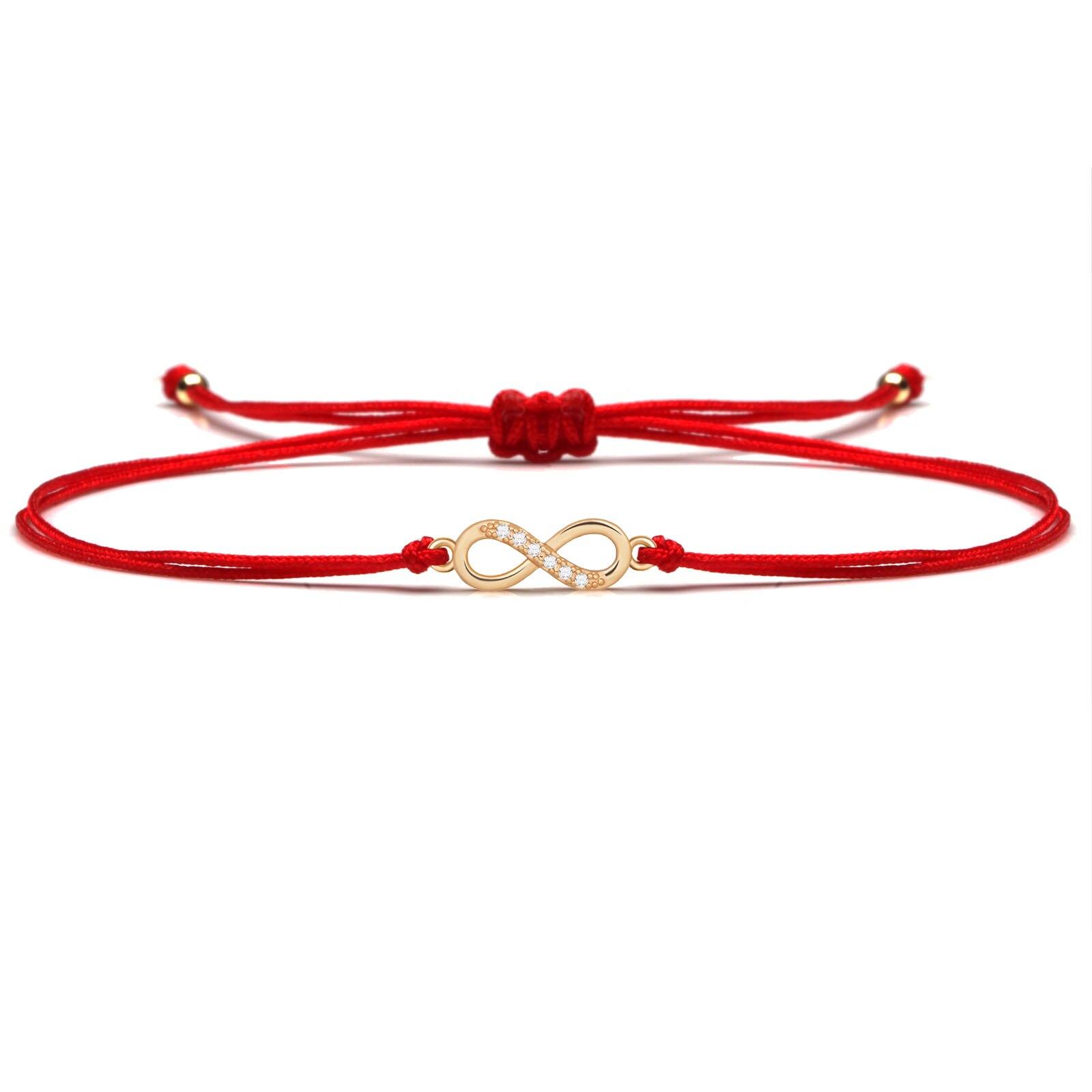 Разноцветный Цирконий милый маленький бесконечность любви, браслеты с брелоками для женщин женские туфли-лодочки на высоком каблуке ручно...