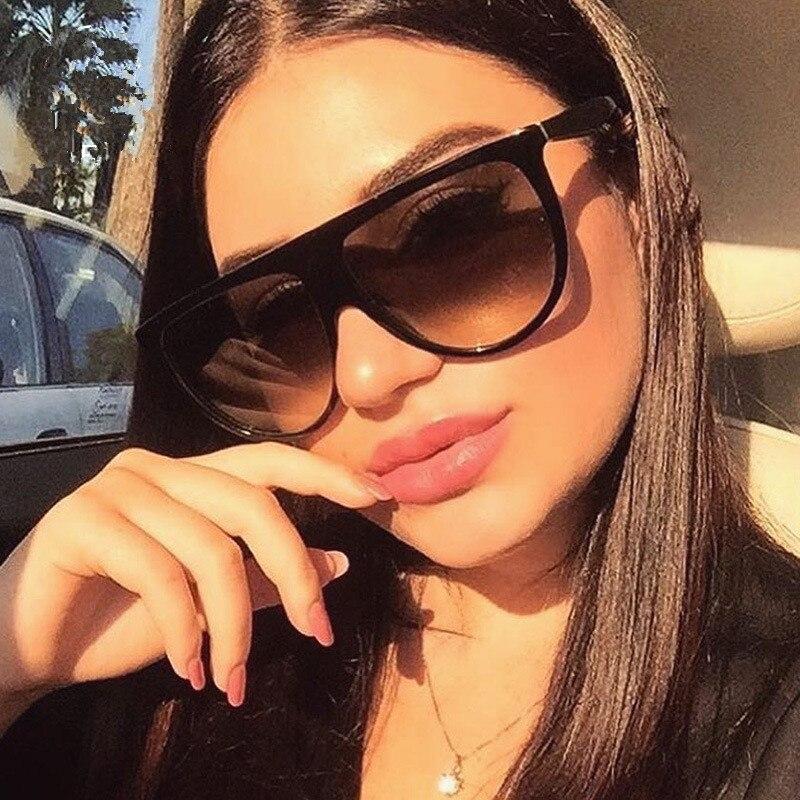 Eastway Women Oversized Sunglasses Frame Gradient Cat-Eye Classic Female Plastic Brand Designer