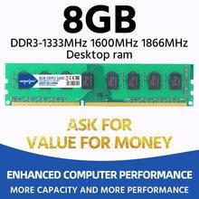 Heoriady ddr3 8 gb 1600 mhz ram desktop memória 2 gb 4 gb 1333 mhz 1066 mhz opções