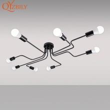 תליון אורות ברזל תליון מנורת תלייה מודרנית מנורת תעשייתי לופט נורדי עיצוב עיצוב חדר שינה חדר אוכל אור מתקן led