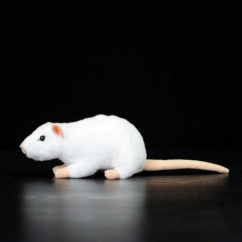 余分なソフト実生活ミニ白ラットマウスぬいぐるみリアルなマウスぬいぐるみおもちゃ誕生日クリスマスプレゼント