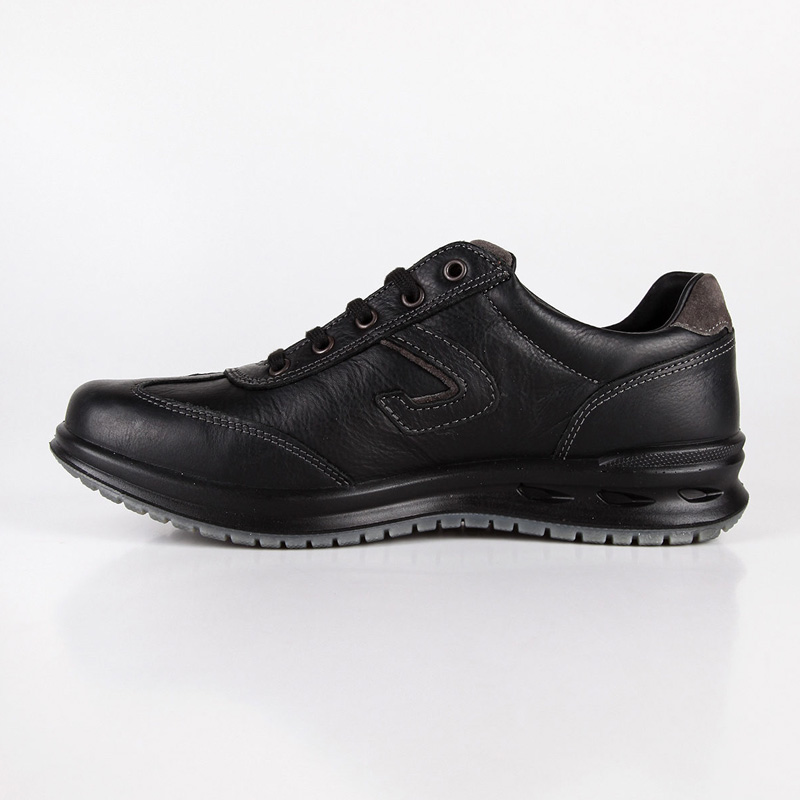 Baskets Grisport cuir noir