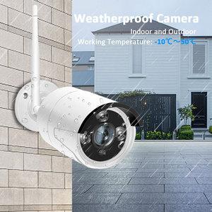 Image 3 - 1080p nvr cctv kit wifi sistema de câmera ip câmera sistema de segurança ao ar livre conjunto vigilância por vídeo