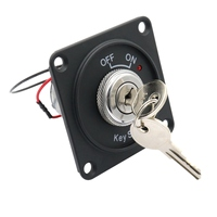 Universal 12V Car Boat Motorcycle Ignition Starter Key Ignition Switch Panel 2Position With 2 Keys