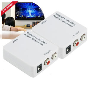 Digital Analog Audio Converter Optical Coaxial To Stereo LR Rca 3.5 Mm Output Audio Adapter For HDTV DVD Convenient Practical