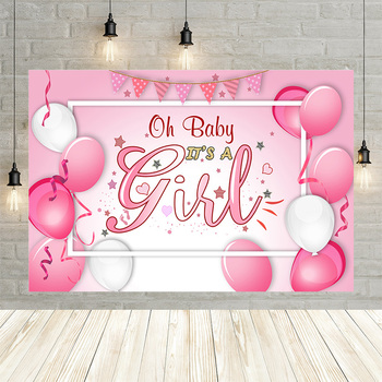 Mehofond Pink Balloons Photo Background Newborn Girl Birthday Party Photography Backdrops Baby Shower Portrait Banner Studio - discount item  44% OFF Camera & Photo