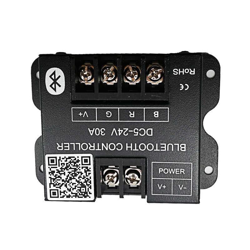 Nouveau 30A LED gradateur Bluetooth gradateur 12V 24V 720W Max grande puissance pour LED simple bande interrupteur électrique choc couverture régulateur de lumière