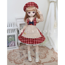 BJD Dolls-Accessories No-Doll Blyth Sailor-Dress Girls DIY for 1/4 Gift-Red