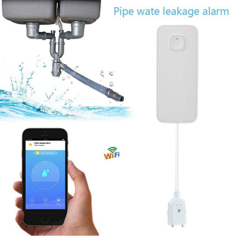 Wireless WiFi Water Leakage Detector Home Security Flood Overflow Alarm APP Notification Sensor