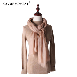CAVME Pure Cashmere Scarf for Ladies Long Scarves Largue Size Pashmina Solid Color 50g 100*220cm Luxury Gift for Mother