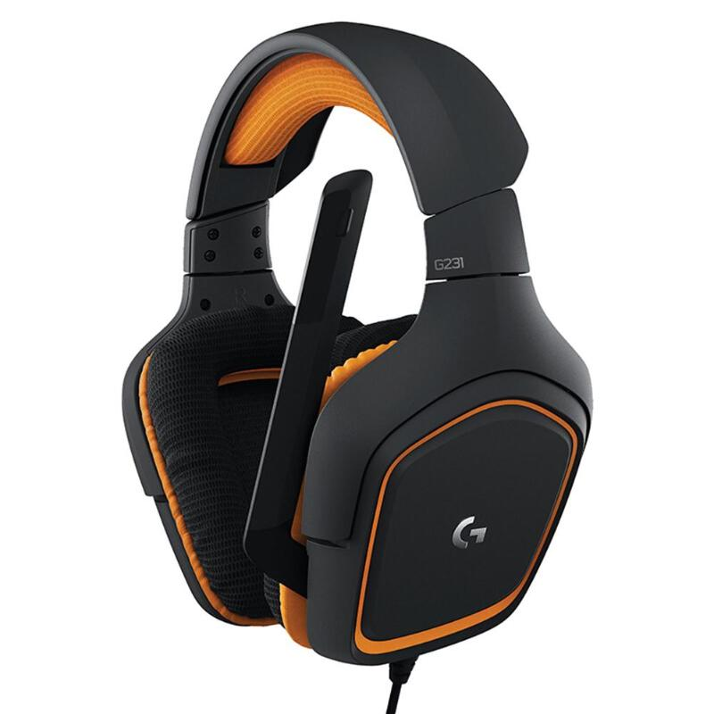 Logitech G2311 G430 Wired Headset Hit Color Wear-resistant Wired Gamer Headphone 3.5mm Line Control Stereo Headset with MIC