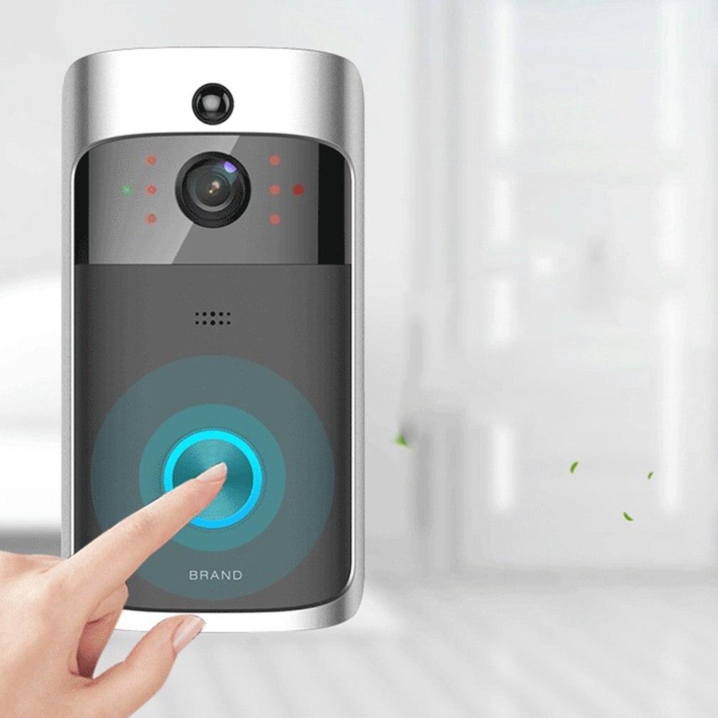 Wireless WIFI Video Door Bell Two-way Audio Doorbell IR-CUT Night Vision PIR Motion Detection Home Security Alarm