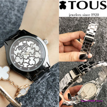 TOUSES pulsera Watch Women Quartz Casual reloj Watches Bracelet Watch Ladies Quartz Watch Leather Fashion Sport TOUSES joyas(China)