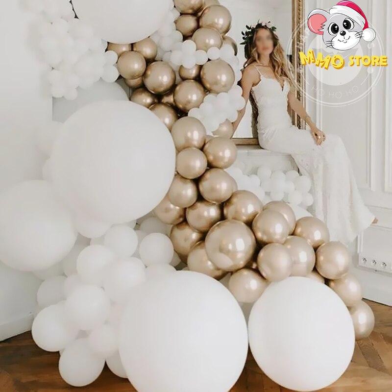 20 pces/30 pces matte hélio globos balão branco inflável festa de aniversário casamento mariage decoração aniversário arche ballon