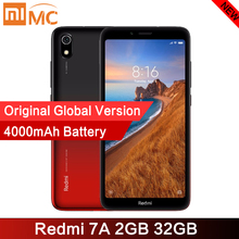 """מקורי Xiaomi Redmi 7A 2GB 32GB Smartphone 5.45 """"HD תצוגת Snapdargon 439 אוקטה Core 4000mAh 12MP AI פנים נעילה נייד טלפון"""