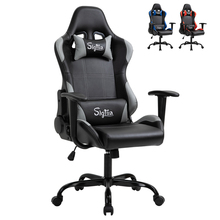 Sigtua WCG Gaming Chair Ergonomic Design Lifting Adjustable Swivel Office Racing Computer Game Chair with Headrest,Lumbar Pillow
