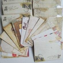 12 шт. винтажный маленький Ancien Мини бумажные конверты свадебные приглашения конверт для карты подарок ретро Европейский стиль Kawaii Канцтовар...