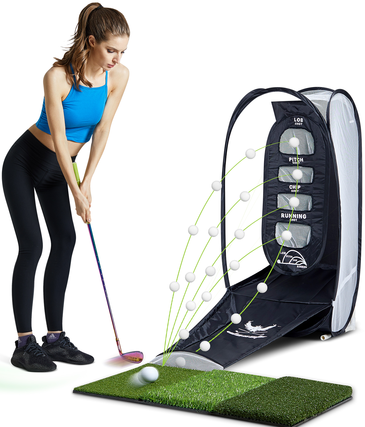 Golf Chipping Hitting Trainer Net   Portable Sui Intended Fold Superimposed Indoor And Outdoor Are Available