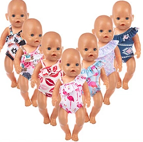 Baby new Born Fit 17 inch 43cm Doll Accessories Swim Suit Doll Clothes For Baby Gift