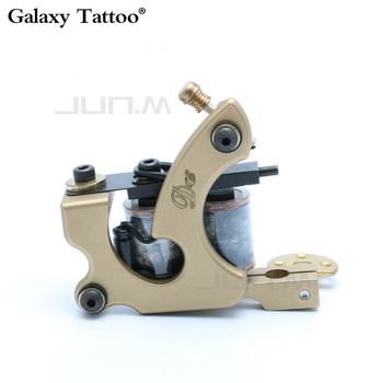 DC Handmade Whole Wire Cutting Copper Machine Tattoo Machine 10 Wraps Coil Tattoo Gun Liner And Shader Exquisite